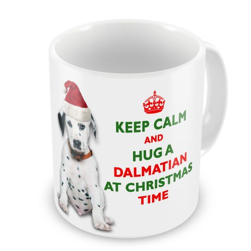 Christmas Keep Calm And Hug A Dalmatian Novelty Gift Mug